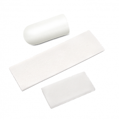 Absorbent, porous collagen matrices derived from bovine dermis tissue. Wound dressings are indicated for the management of oral wounds and applied directly to the site to protect the wound and delicate new tissue growth. Ten individually packaged wound dressings per box. Maxxeus Wound Dressings have a resorption time of 30 days.