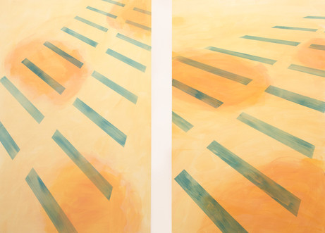 vertical aerial diptych