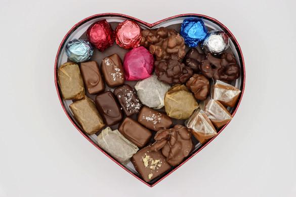 Heart shaped assortment box