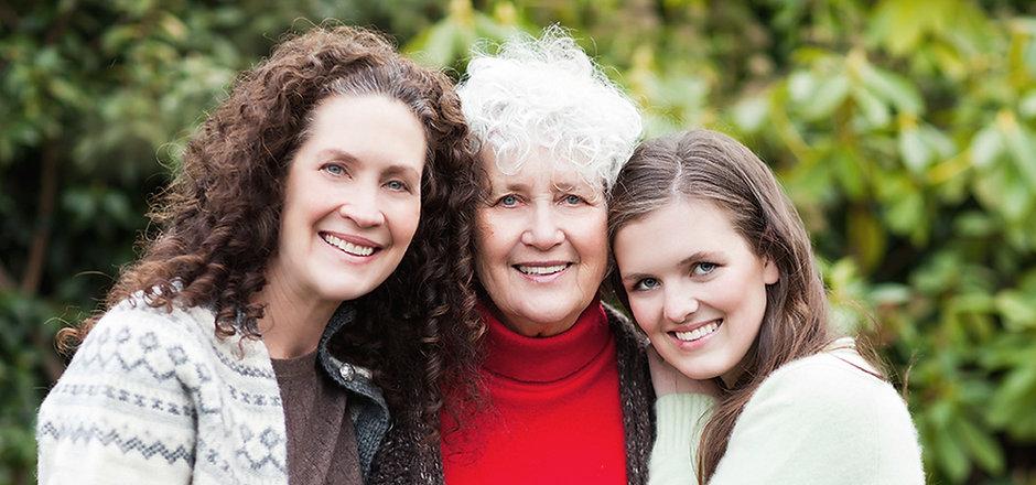Três gerações de mulheres