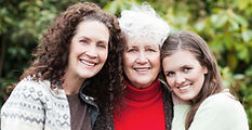 happy multi generational women approving of scensibles plus personal disposal bags for bladder control products