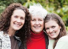 Three generations of women