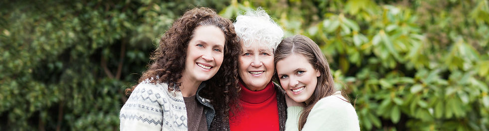 Three generations of women