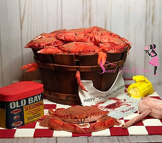 Maryland Crab Barrel Cake for my stepfat