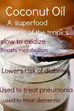 Dont be fooled Palm oil is not healthy - research Coconut oil - the only oil you should use.