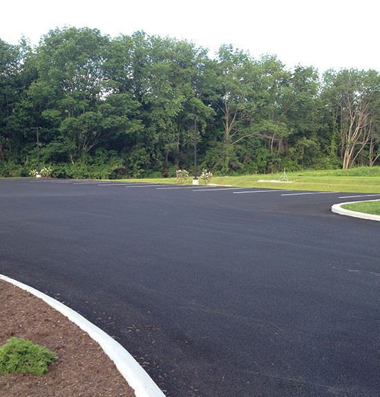 Coffee Roasters Paved Parking Lot