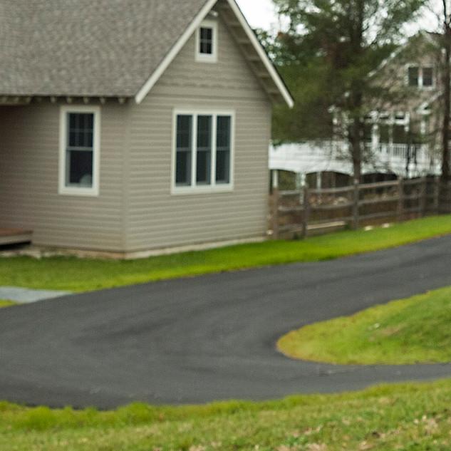 Curvy Asphalt Driveway