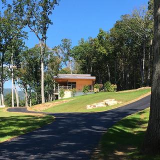 Uphill Asphalt Driveway