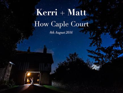 KERRI + MATT @ HOW CAPLE COURT