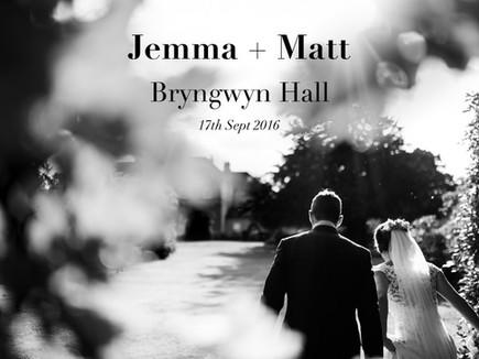 JEMMA + MATT @ BRYNGWYN HALL