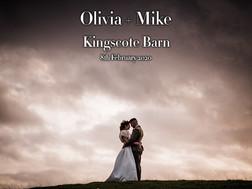 OLIVIA + MIKE @ KINGSCOTE BARN