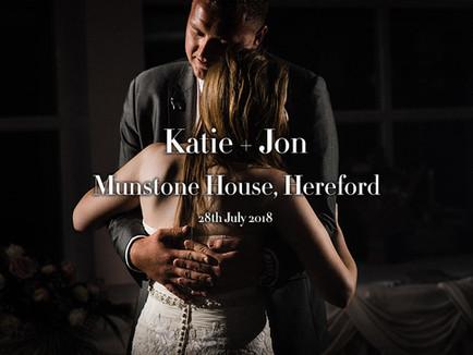 KATIE + JON @ MUNSTONE HOUSE, HEREFORD