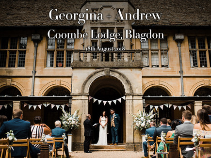 GEORGINA + ANDREW @ COOMBE LODGE