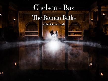 CHELSEA + BAZ @ THE ROMAN BATHS, BATH