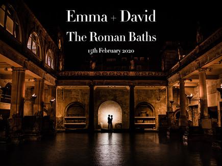 EMMA + DAVID @ THE ROMAN BATHS