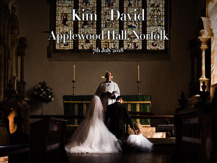 KIM + DAVID @ APPLEWOOD HALL, NORFOLK
