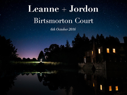 LEANNE + JORDON @ BIRTSMORTON COURT