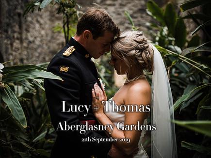 LUCY + THOMAS @ THE ABERGLASNEY GARDENS
