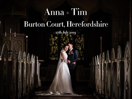 ANNA + TIM @ BURTON COURT