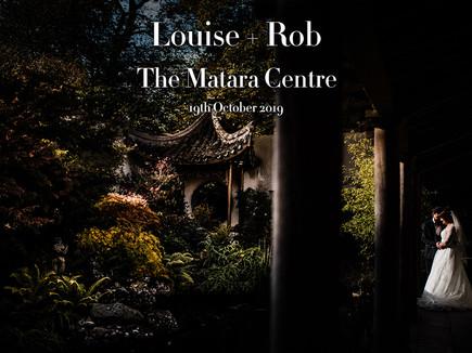 LOUISE + ROB @ THE MATARA CENTRE