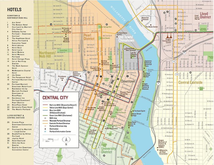 Portland City Center Map