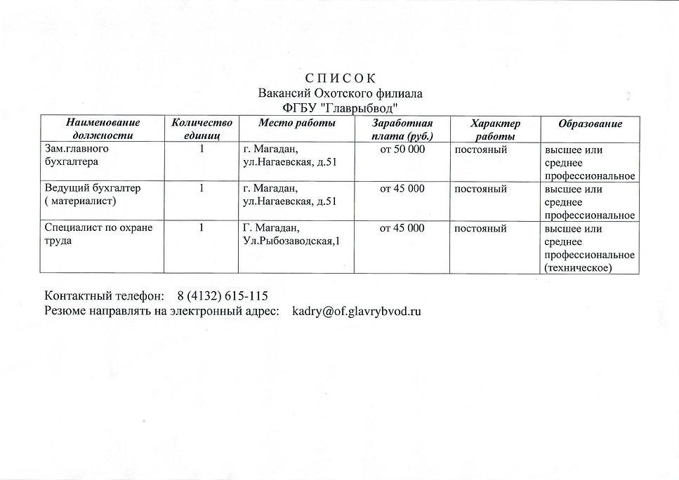 Список вакансий Охотский филиал ФГБУ Главрыбвод.jpg