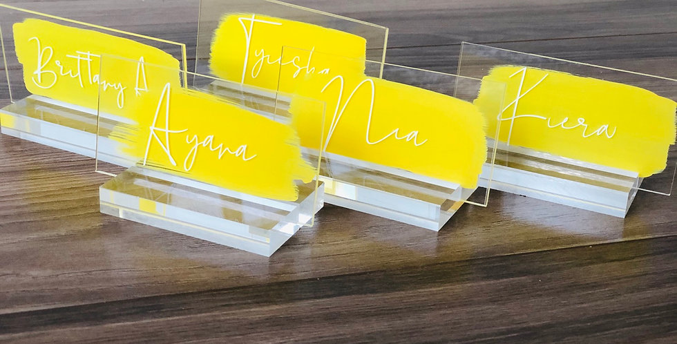 Acrylic Place Cards- Escort Cards