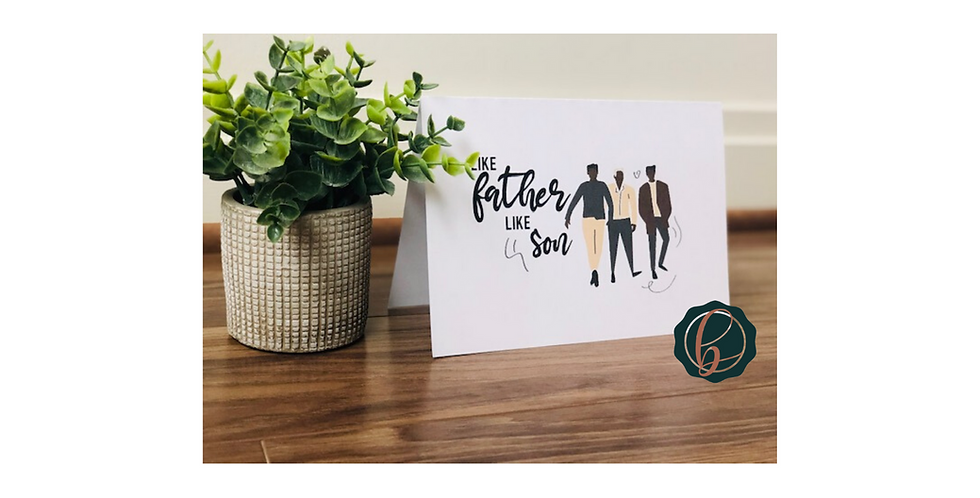 Like Father Like Son Character Cards- For Fathers
