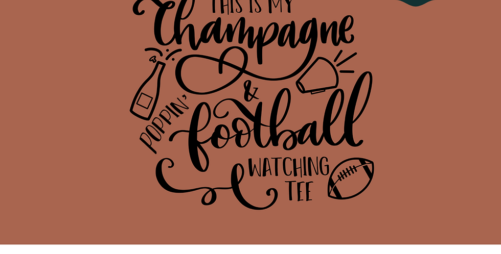 Champagne and Football Tee