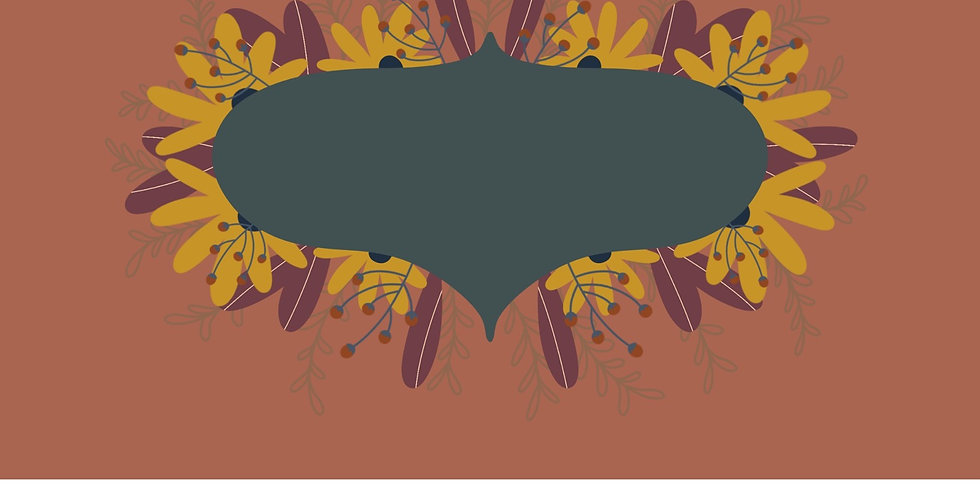 Curved Hexagon Floral Background