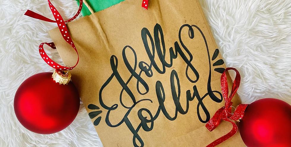 Holly Jolly Gift Bag