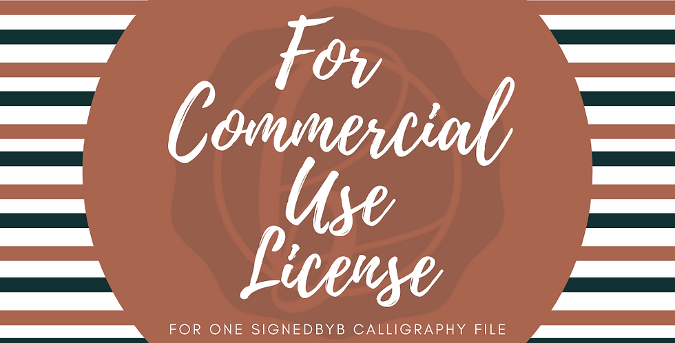 For Commercial Use License