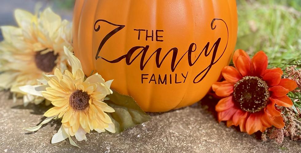 Large Lettered Pumpkin