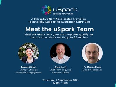 'Meet the uSpark Team' Event at Digital Innovation Futures Victoria Festival 2021
