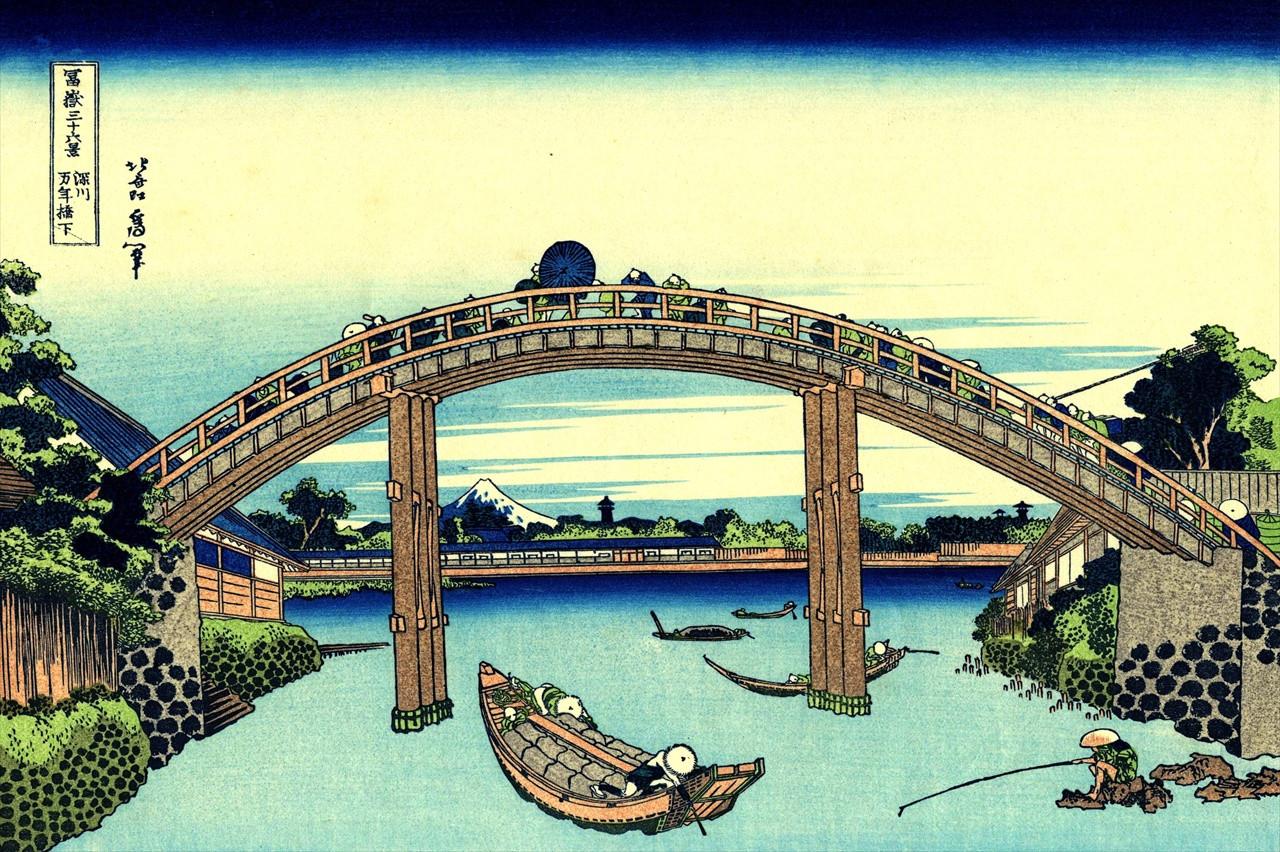 富嶽三十六景 「深川万年橋下」