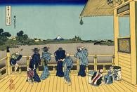 富嶽三十六景 「五百羅漢寺さざるどう」