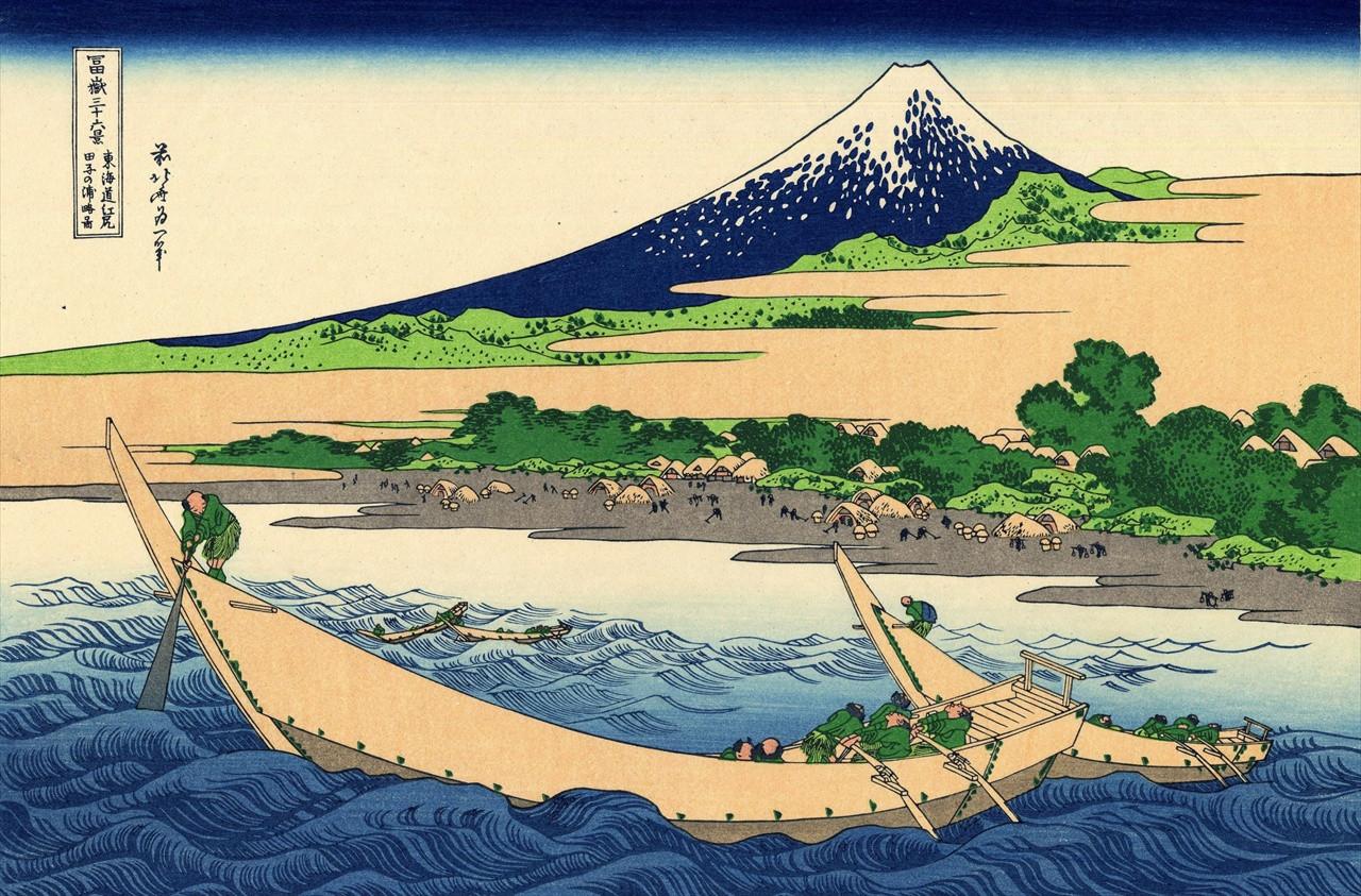 富嶽三十六景 「東海道江尻田子の浦略図」