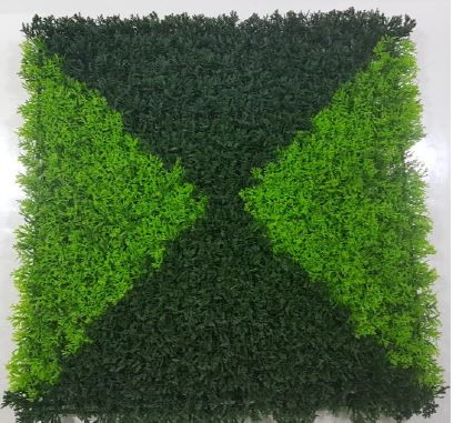 Triangle Dual Shade Leaves Tile (Outdoor