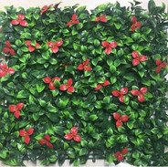 Pink Flowers Big Green Leaves Tile (Outd