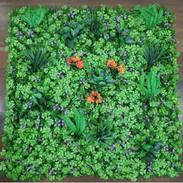 Purple & Orange Mix Leaves Tile (Outdoor
