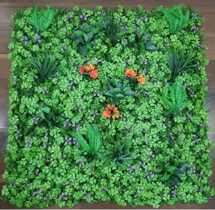 Purple & Orange Mix Leaves Tile (Outdoor