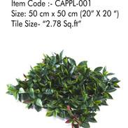 Cappl -001Artificial Vertical Garden Gra