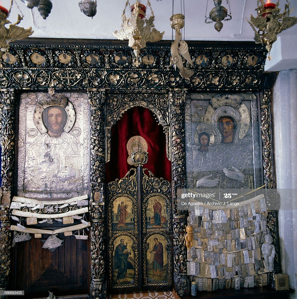 Iconostasis, architecture, byzantine church interior, mary jane miller, holy of holies,scared space