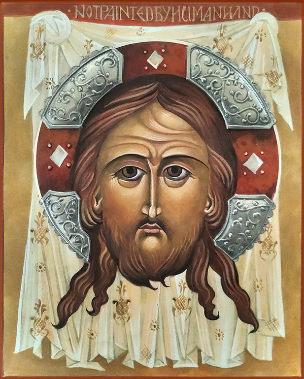 Face of Christ on Cloth Icon