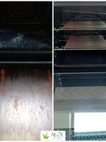oven cleaning before and after, ALOE Cle