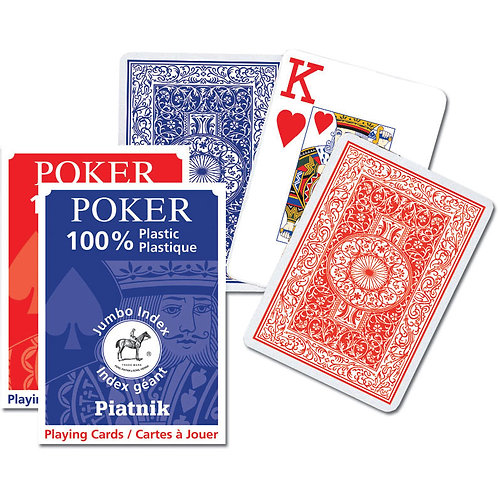 Игральные карты 100% Пластик-Покер (55 листов)