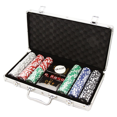 Фабрика Покера: Набор из 300 фишек для покера с номиналом