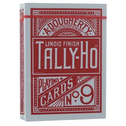 Карты Tally-Ho (Fan back) красные
