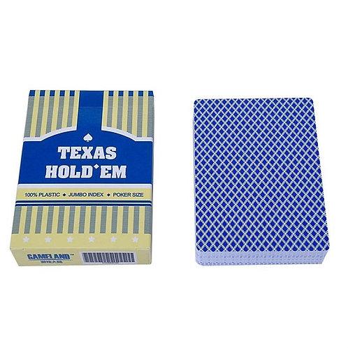 """Карты для покера """"Texas Holdem"""" 100% пластик (синие)"""