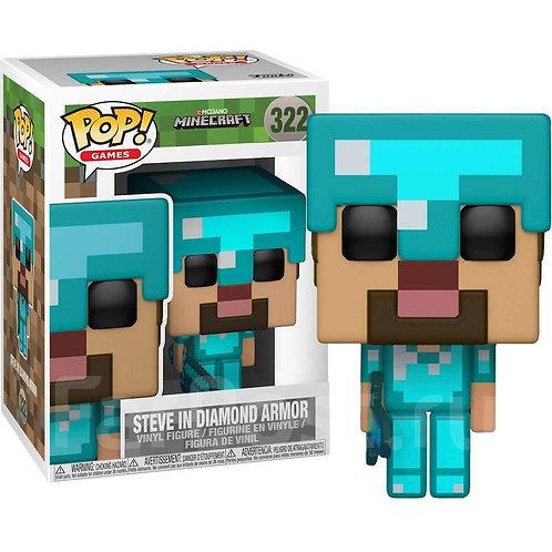Реплика Funko POP! Games: Minecraft: Steve in Diamond Armor 322